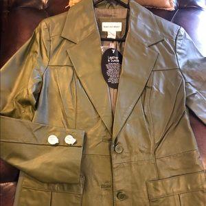 Newport News 2 pocket leather/suede blazer/jacket
